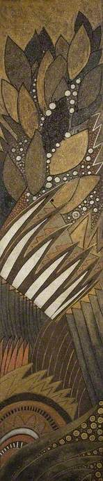 Art Deco Lacquered Panel