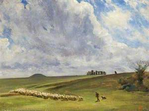 Stonehenge, Wiltshire, Barrows and Parallel Banks