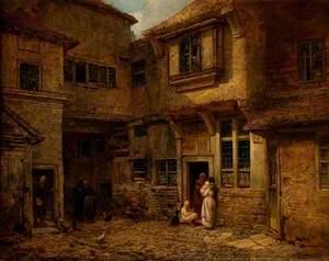 The Yard of the 'Old George Inn', Salisbury, Wiltshire