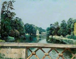 The Dairy Bridge Looking towards the Palladian Bridge, Wilton Park, Wiltshire