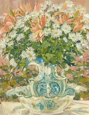 Lilies and Chrysanthemums