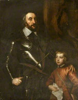 Thomas Howard (1585–1646), 21st Earl of Arundel, 4th Earl of Surrey and 1st Earl of Norfolk, with His Son