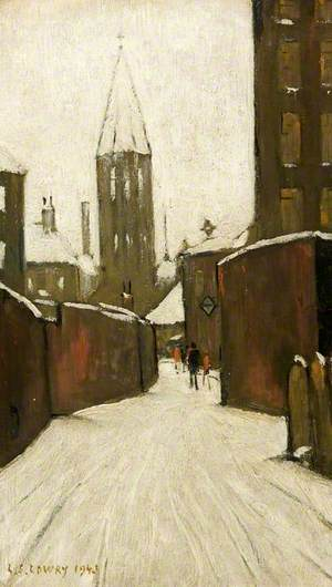 Winter in Pendlebury, Manchester