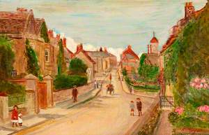 Marlborough Road Looking towards the High Street, Swindon, Wiltshire, 1911