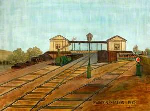 Swindon Station, Wiltshire, 1845