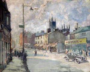 View on Yorkshire Street, Oldham, Lancashire
