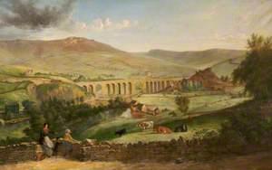 Uppermill from Dobcross, Oldham, Lancashire