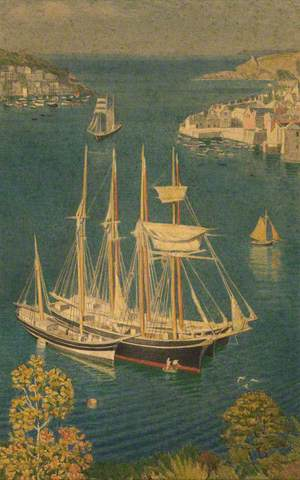 Group of Sailing Vessels