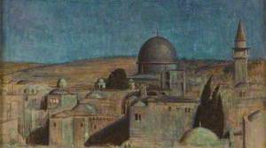 The Holy City: The Mosque As Sakhra by Moonlight