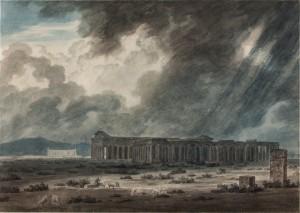 Ruins of Paestum near Salerno: The Three Temples