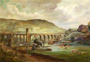The Saddleworth Viaduct, Oldham, Lancashire