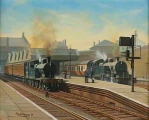 Oldham, Lancashire, Clegg Street Station, 1953