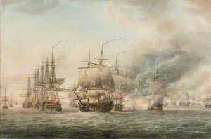 The British Fleet Seizing the Anchorage at Basseterre, St Kitts, from the French Fleet under de Grasse, 25 January 1782