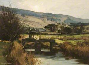 Fletcher's Mill from Tanner's Dam, Greenfield, Saddleworth, Yorkshire