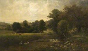 A Scene on the Wye, near Haddon Hall, Derbyshire