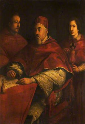 Pope Urban VIII (1568–1644), with His Nephews Cardinal Francesco Baberini (1597–1679), and Cardinal Antonio Barberini (1607–1671)