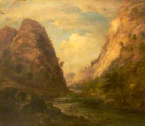 Landscape with a River and Cliffs
