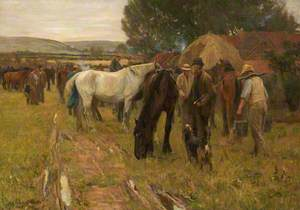 A Country Horse Fair at Hinderwell, North Yorkshire