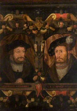 The Reformers Radisponen and G. Wolf (Frederick 'The Wise', 1463–1525, and John I, 'The Constant', 1468–1532)