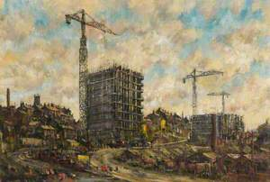 The Construction of College Bank Flats, Rochdale, Lancashire