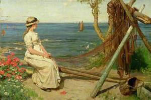 Mending the Nets, Newlyn, Cornwall