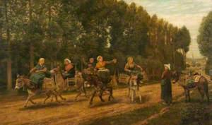 The Sluggard, Market Women, Brittany, France