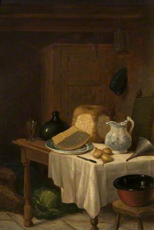 Kitchen Interior with Still Life