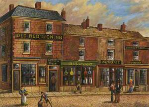 'Old Red Lion Inn', Fleet Street, Bury, 1861