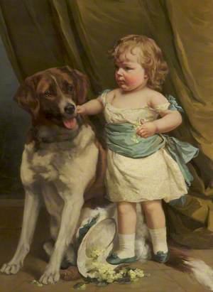 Jessie Walmsley and a Dog