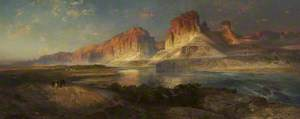 Nearing Camp, Evening on the Upper Colorado River, Wyoming
