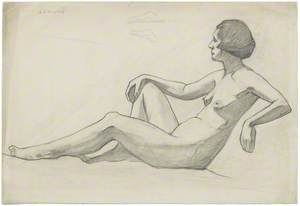 Reclining Nude (Facing Left)