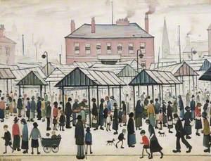 Market Scene, Northern Town