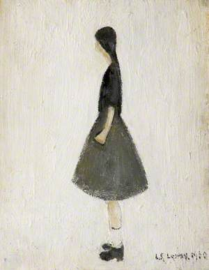 Portrait of a Girl with Short White Socks