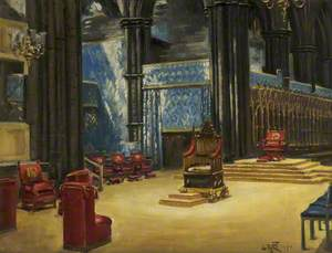 Interior of Westminster Abbey, Arranged for the Coronation, 1937