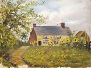 Cottage with Sunflowers