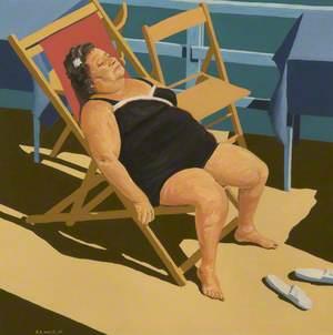 Lady Sunbathing