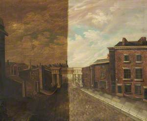 Wigan, Approach to London and North Western Railway Station, 1830