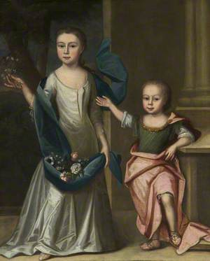 Silence Wagstaffe (1714–1735), as a Child, with Her Brother