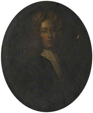 Portrait of a Young Man Wearing a Wig