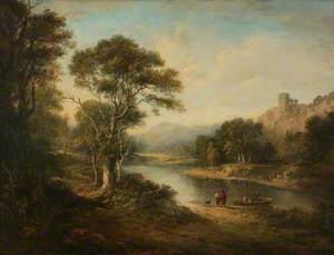 River Landscape with Ruined Castle