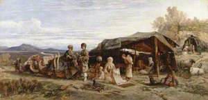 An Encampment in the Desert