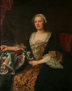 The Marquise de Castellane with Her Embroidery