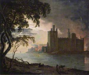 Caernarvon Castle by Moonlight