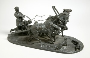 Figures in a Horse-Drawn Sledge