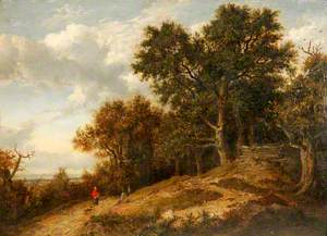 Wooded Landscape with Distant View