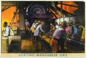 Sorting Manganese Ore