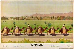 Cyprus, Fruit, Locust Beans, Asbestos, Silk