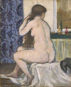Girl at Her Toilet