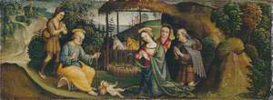 The Nativity with Saint Bridget