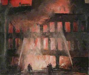 Auxiliary Fireman Leonard Rosoman, Cheapside